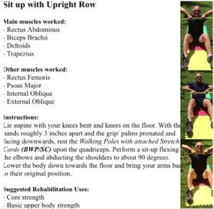 Sit up and Upright Rows